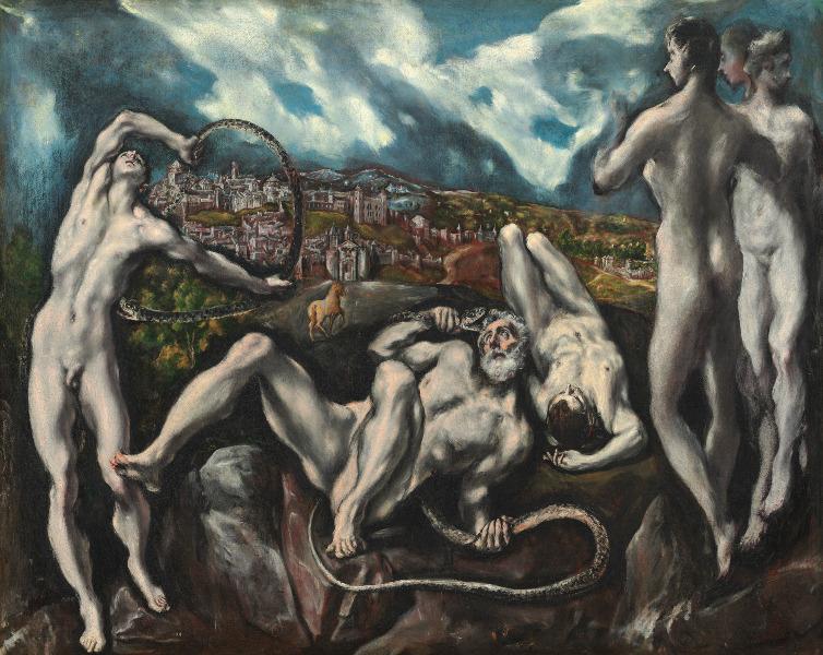 Le Greco et la peinture moderne : Le Greco. Laocoön. Vers 1608 - 1614, huile sur toile, 137.5 x 172.5 cm. Washington, D.C., National Gallery of Art. Samuel H. Kress Collection