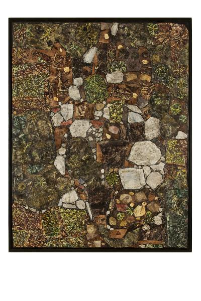 Dubuffet l'insoumis : Coursegoules, 1956 huile sur toile (assemblage) Les Arts Décoratifs, Paris Photo Les Arts Décoratifs / Jean Tholance © Adagp, Paris, 2014 © Fonds Hélène&Édouard Leclerc pour la Culture, 2014