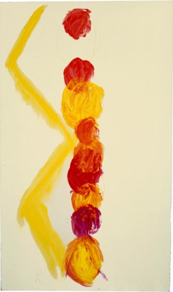À quoi tient la beauté des étreintes? : Kimber Smith - Rosie's Watermelon Man – 1976 - Acrylique sur toile - 195 x 115 cm Collection FRAC Auvergne