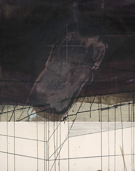 Stéphane Guénier. Dessins récents : Sans Titre. Novembre 2015, technique mixte sur papier, 106 x 84 cm.