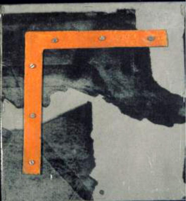 Pierre Buraglio... Suite. Assemblages. Dessins. Fenêtres. Imprimés. Etudes. : Détail de Suite...La leçon des ténèbres. 1985