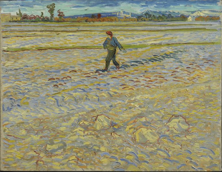 Villa Flora, les temps enchantés : Vincent van Gogh  –  Le Semeur  – 1888 – Huile  sur toile, 72 x 91,5 cm – Hahnloser/Jaeggli  Stiftung, Winterthur – © Hahnloser/Jaeggli  Stiftung, Winterthur. Photo Reto Pedrini, Zürich