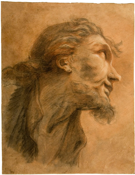 Une collection particulière : les dessins de la collection Christian et Isabelle Adrien : Tête du Christ - Restout