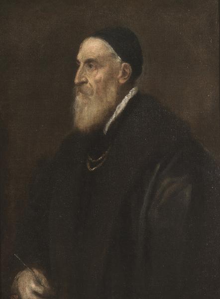 Titien : Titien. Autoportrait. Vers 1566, huile sur toile, 86 x 65 cm. Musée national du Prado, Madrid. © Museo Nacional del Prado