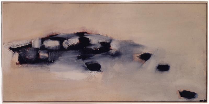 Tal Coat - La liberté farouche de peindre : Troupeaux, 1959 Huile sur toile 51 x 100 cm Collection particulière, Suisse Photo : Zines Galai, © Studio Curchod, Vevey (CH), © ADAGP Paris 2017