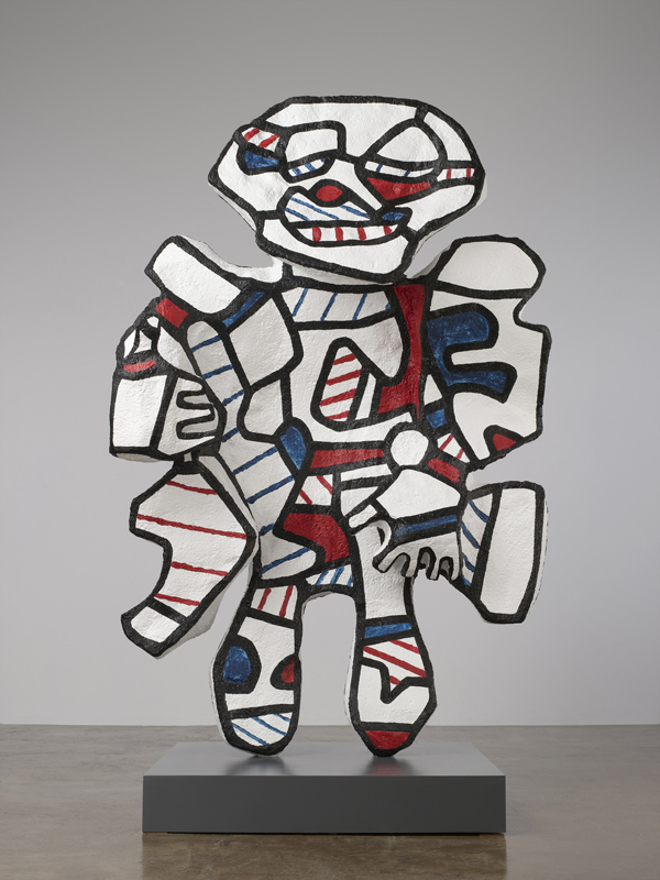 Un corps inattendu, carte blanche à Jean-Louis Prat : Jean Dubuffet, Personnage pour Washington Parade, 1973, Collection Fondation Jean Dubuffet, Paris - Photo : ADAGP, Paris / The Pace Gallery, New York