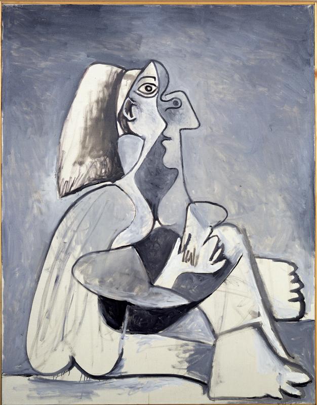 Un corps inattendu, carte blanche à Jean-Louis Prat : Pablo Picasso, Femme assise, 1962, Collection particulière