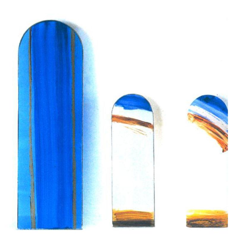 Pierre Buraglio... Suite. Assemblages. Dessins. Fenêtres. Imprimés. Etudes. : Vitraux. Etudes pour le prieuré de Ganagobie. 1997