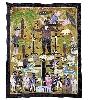 L'Afrique des routes : Myrlande Constant, Bannière Bawon, 2005, Haïti, fibre synthétique, perles de verre et de plastique, satin, 149 x 124 cm, Musée du Quai Branly