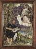 Plumes. Visions de l'Amérique précolombienne : Notre Dame et Saint Luc, Mexique, 18e siècle  Technique mixte, mosaïque de plumes sur cuivre et peinture.