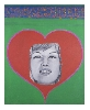 Ladies by ladies : Pauline Boty	Monica Vitti with Heart	1963, huile sur toile, 76,2 x 61 cm