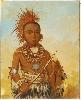 Peinture des lointains : George Catlin, Portrait de Wa-ta-we-buck-a-nak, vers 1846, Peinture à l'huile 81 x 65 x 2,5 cm