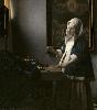Vermeer et les maîtres de la peinture de genre : Johannes Vermeer, Femme à la balance, vers 1664. Huile sur  toile. 40,3 x 35,6 cm. Washington, National Gallery of Art,  Widener Collection © Washington, National Gallery of Art