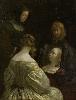 Vermeer et les maîtres de la peinture de genre : 7_Gerard Ter Borch, Femme à son miroir, vers 1651-1652.Huile sur toile. 34 x 26 cm. ©Amsterdam, Rijksmuseum