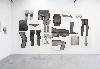 Frédérique Lucien - Introspectives : «Anonyme», 2010, fusain sur papier, vue de l'atelier de l'artiste, crédit photographique: Alberto Ricci