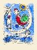 Est-ce ainsi que les hommes vivent ? : Marc CHAGALL, L'Opéra, 1954. Lithographie originale en couleurs sur Arches, 39 cm x 28,5 cm