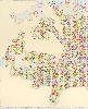 Frédérique Lucien. Trames et Variations : Feuiller 2018, dim:140 x 124,5 cm, papier découpé, acrylique et crayon©FrédériqueLucien