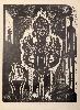 Damien de Roubaix - Hier Vloekt Men Niett (Ici on ne jure pas). : Stilleben mit Fetisch, 2017 Xylogravure sur papier Japon Edition of 15 Dimensions papier : 85 x 64 cm