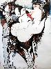 À la plume, au pinceau, au crayon. Dessins du monde arabe : Dia AL-AZZAWI. Gilgamesh, 1987. Ensemble de deux dessins. Technique mixte sur papier toile, 160 x 120 cm © Donation Claude & France Lemand