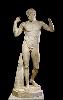 La Beauté du corps dans l'Antiquité gréco-romaine : Réalisée vers 117-138 apr. J.-C. Copie romaine en marbre d'un bronze original perdu, fondu vers 440 av. J-C. par Polyclète d'Argos. BM Sculpture 500. GR 1870,0712.1 hauteur : 1,82 m