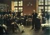 Sigmund Freud, du regard à l'écoute : André Brouillet Une leçon clinique à la Salpêtrière, 1887 Huile sur toile, 300 x 425 cm © Paris, université René Descartes, musée d'histoire de la médecine, dépôt du Centre national des Arts plastiques