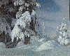 Au-delà des étoiles. Le paysage mystique de Monet à Kandinsky : Gustaf Fjaestad, Clair de lune en hiver,  1895 Huile sur toile, 100 x 124 cm Stockholm, Nationalmuseum, inv. NM 1628 Photo © Hans Thorwid/Nationalmuseum © Adagp, Paris 2017