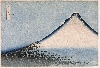 Paysages japonais. De Hokusai à Hasui : Vent frais par matin clair   Série « Trente-six vues du mont Fuji » Katsushika Hokusai (1760-1849) Papier, impression originelle en bleu de Berlin aizuri-e, format ôban Epoque d'Edo, 1831-1832 Donation Norbert Lagane, acquisition 2003 MA 8149 Photo (C) RM