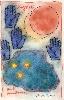 Le voyage poétique - Jacques Bosser, Ernest Pignon Ernest et Mark Brusse : Mark Brusse, Back from Bénin, peinture sur papier taïwanais marouflé sur toile