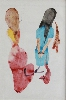 22+1 – Identité de genre : Béatrice Cussol. Sans titre. 2011, aquarelle, stylo bille et crayon sur papier local, 77,5 x 56,5 cm. © Galerie Réjane Louin