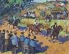 La modernité en Bretagne : Jeanne-Marie BARBEY, La Course à Gourin, vers 1929
