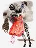 Mohamed Lekleti-Khamsa : Miroir de mon désespoir, 2018. Technique mixte sur papier 150x110