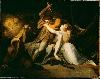 Füssli. Drame et théâtre : Percival libère Belisane de l'enchantement d'Urma.  Johann Heinrich Füssli,1783. Huile sur toile, 99,1 x 125,7 cm © Tate, Londres