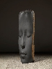 Jaume Plensa. Le silence de la pensée : Jaume Plensa. Lou. 2015, basalte, 212 x 60 x 90 cm. Photo: Gasull Fotografia © Plensa Studio Barcelona, © ADAGP, Paris 2015