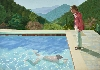 David Hockney : Portrait of an Artist (Pool with Two Figures) 1972 Acrylic paint on canvas 2140 x 3048 mm Lewis Collection © David Hockney Photo Credit: Art Gallery of New South Wales / Jenni Carter
