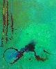 Réalités Nouvelles, Hors-Les-Murs en Pays de Caux : Erik Levesque, Le crime à l'envers peinture acrylique