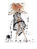 Roux ! de Jean-Jacques Henner à Sonia Rykiel : Jean-Paul Gaultier Création spéciale pour Sonia Rykiel, 2008, Feutre sur papier, 21 cm × 29,5 cm Collection privée Nathalie Rykiel © Jean-Paul Gaultier