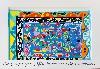 Carte blanche à Tahar Ben Jelloun. «J'essaie de peindre la lumière du monde.» : Tahar Ben Jelloun, Sans titre, acrylique sur toile, © Francesca Mantovani