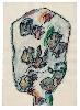 Dilasser, la vie des signes : Sans titre. Série Têtes, 1993. Acrylique et fusain sur papier. Collection particulière.  © ADAGP, Paris, 2016.