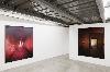 Georges Rousse-Le feu, le rouge et le noir : Embrasure II, 1987; Chypre, 1990 ©Le Creux De L'Enfer