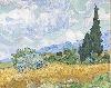 La Collection Courtauld. Le parti de l'Impressionnisme : Vincent van Gogh. Champ de blé avec des cyprès, 1889. Huile sur toile 72,1 x 90,9 cm © The National Gallery, London