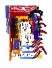 Judith Wolfe. Éclats polychromes : Judith Wolfe. Les solitudes... 1999, acrylique sur toile, 122x94 cm © Philippe Cibille Atelier J. Wolfe (photo D. Ponsard)