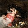 Amour : Carolus-Duran, Le Baiser. 1868, huile sur toile, Lille, Palais des Beaux-Arts. © RMN-GP / Hervé Lewandowski