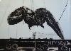 Jean-Marc Cerino. Comme une brise d'accalmie. : Winnie la baleine échouée à San Fransisco, 1938, 2015 huile sur verre, acrylique irradiante et peinture synthétique à la bombe sous verre 124 x 172 cm ©