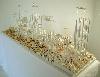 Des paysages, des figures - Carte blanche à Olivier Masmonteil : Clement Bagot. Archipel_2010_130x35x45cm_bois, carton, plexiglas, résine ©de l'artiste