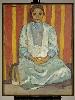 L'Orient des peintres. Du rêve à la lumière : Emile Bernard. Abyssine en robe de soie, étude de mulâtresse, 1895 Huile sur toile 104 x 74 cm © Musée du quai Branly - Jacques Chirac