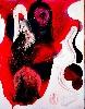 Gutai, l'espace et le temps : Matsutani Takesada.  Sakuhin.  1965, vinyle acrylique, huile sur toile et carton, 182 x 142 cm. Hyôgo Prefectural Museum of Art, Kôbe.