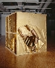 Gutai, l'espace et le temps : Murakami Saburo.  Passage, 8 novembre 1994 (Traversant les écrans de papier). 1994, bois, papier kraft, poudre d'or, 240 x 240 cm. Centre Pompidou – Musée national d'art moderne, Paris.