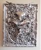 Laurent Konqui : Laurent Konqui. Velib. Pièces détachées de Vélib sur bois. 105*79 cm. Courtesy de l'artiste.