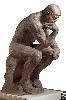 Rodin. L'exposition du centenaire : Le Penseur, grand modèle, SNBA   1904  plâtre grommelaqué 182 x 108 x 141 cm  Paris, musée Rodin