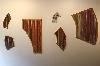 Jean Michel Meurice. L'espace bien tempéré : Jean-Michel Meurice, Montage ; Tagasode X2, 2007, 45 x 18 cm ; Tagasode X1, 2007, 44 x 27 cm ; Tagasode B4, 2006, 96 x 26 cm ; Tagasode V2, 2007, 33 x 16 cm ; Tagasode B5, 2006, 66 x 26 cm ; Tagasode 8, 2004, 103 x 60 cm ; acrylique sur carton plume, coll